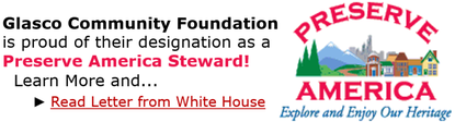 Preserve America - Read a Letter from the White House to the Glasco Community Foundation